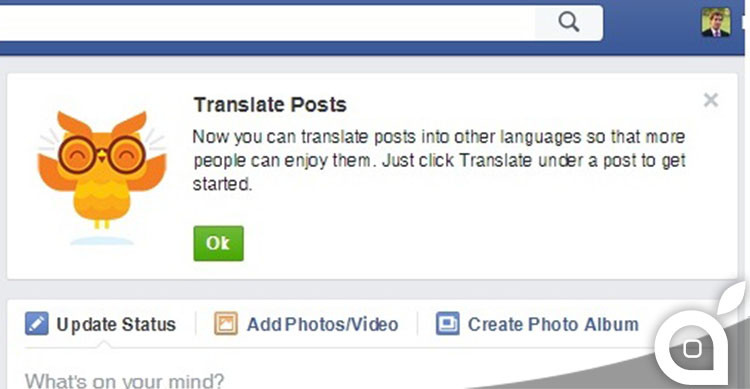 facebook traduzione post
