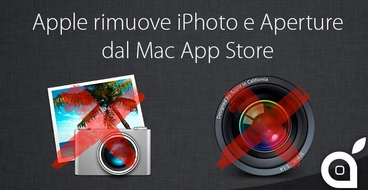 Apple rimuove iPhoto e Aperture dal Mac App Store