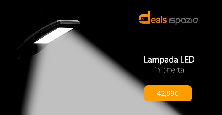 Lampada LED da scrivania per casa ed ufficio in offerta speciale con codice iSpazio