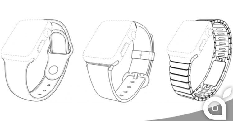 tre cinturini brevetti apple watch