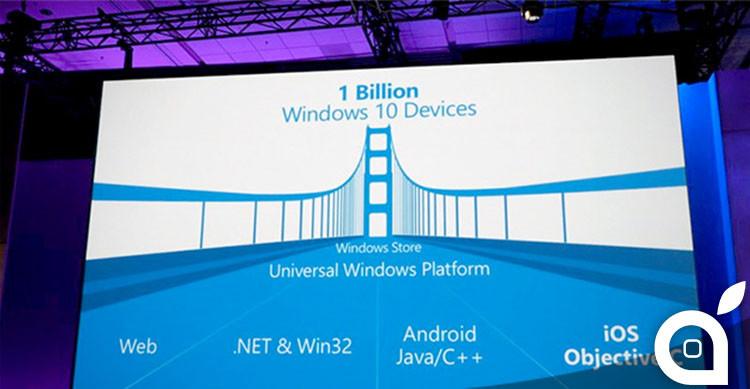 windows 10 invita gli sviluppatori android e ios