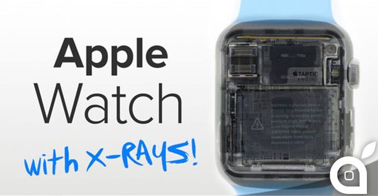 apple watch  a raggi x