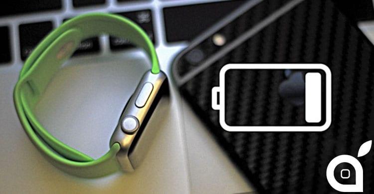 apple watch battery moitor