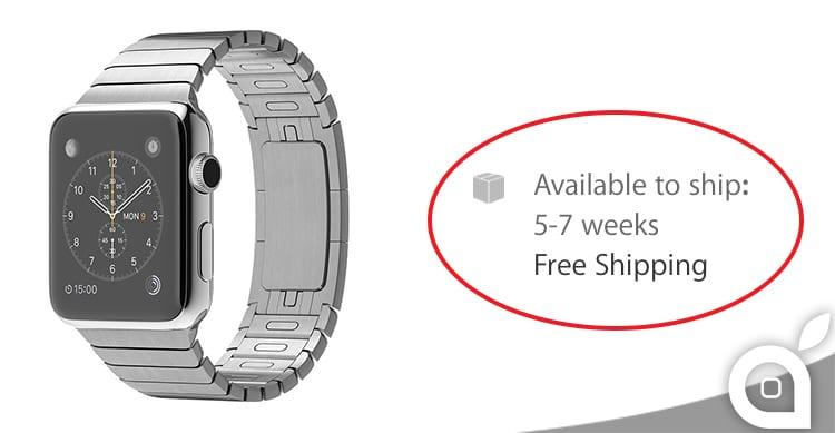 Si riducono i tempi di spedizione per molti modelli di Apple Watch