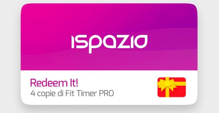 iSpazio Redeem It! – Vinci 4 copie di Fit Timer Pro!