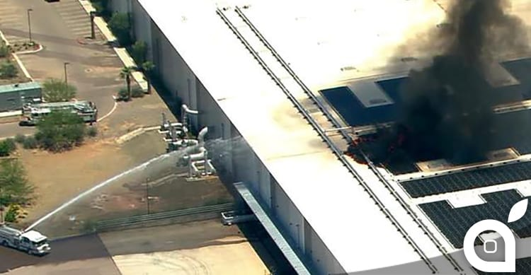 Incendio in una fabbrica Apple dell'Arizona