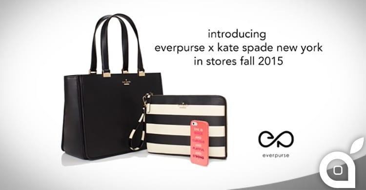 Kate Spade, in collaborazione con Everpurse, presenta le borse 'ricarica-iPhone'