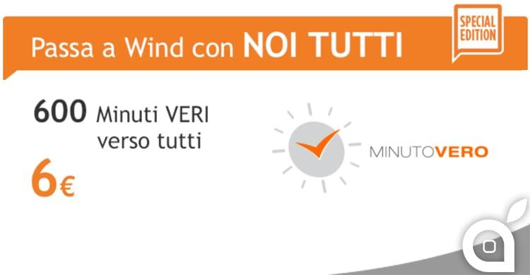 Wind lancia l'offerta Noi tutti: 6€al mese per 600 minuti di chiamate
