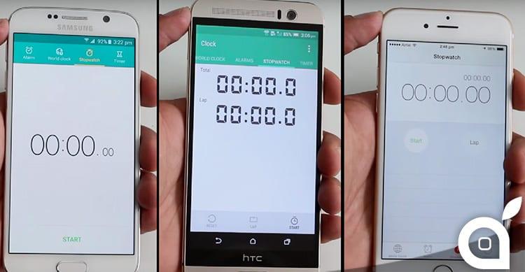 Chi è il più veloce tra iPhone 6, Galaxy S6 e HTC M9+? [Video]