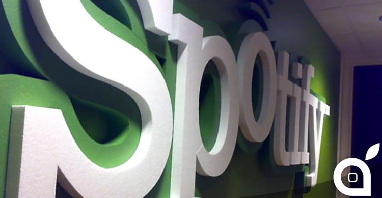 Spotify cresce di più da quando è stato rilasciato Apple Music
