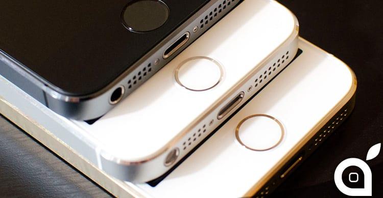 Apple sostituisce l'immagine dell'iPhone 5c con TouchID