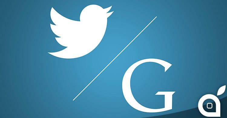 Google e Twitter iniziano a lavorare insieme per mostrare i tweet nei risultati di ricerca mobile