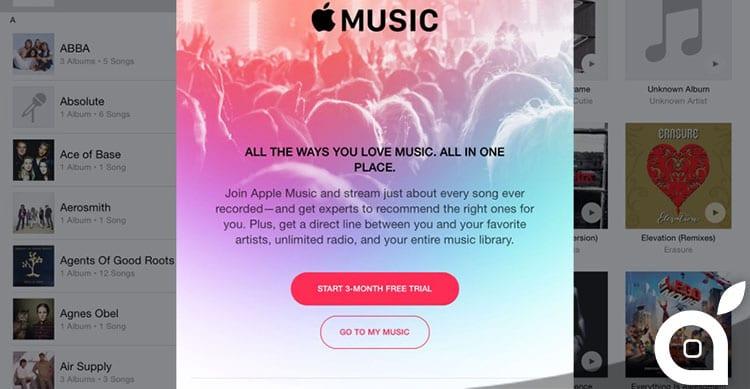 apple music pop up