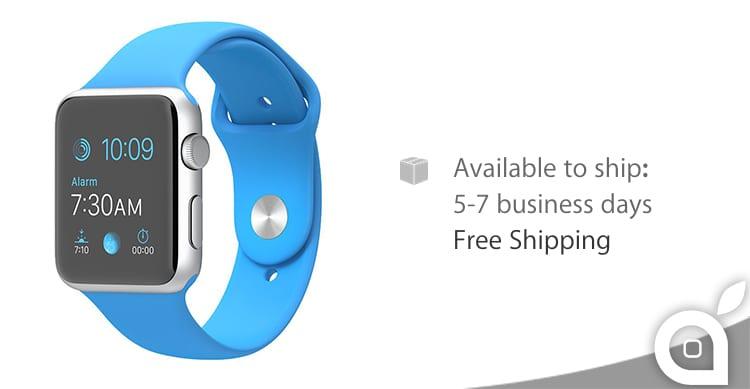 Scendono ancora i tempi di spedizione per gli Apple Watch, a partire da 5 giorni