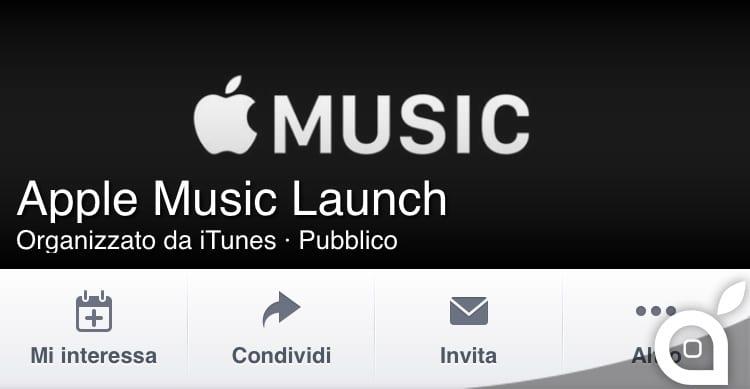 Apple crea una pagina evento su Facebook per celebrare il lancio di Apple Music