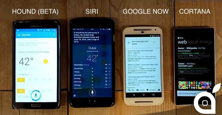Confronto tra assistenti vocali: Hound vs Siri vs Google Now vs Cortana [Video]