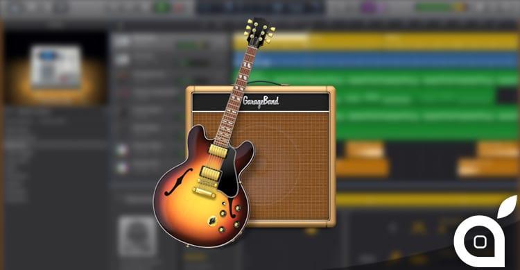 Nuovo aggiornamento per GarageBand per Mac il 30 Giugno