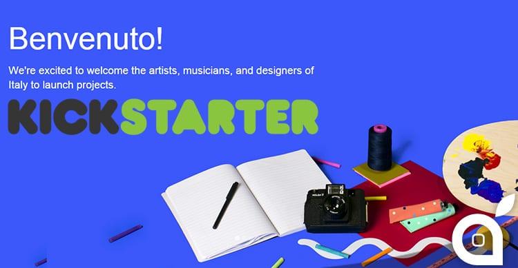 Kickstarter arriva ufficialmente anche in Italia