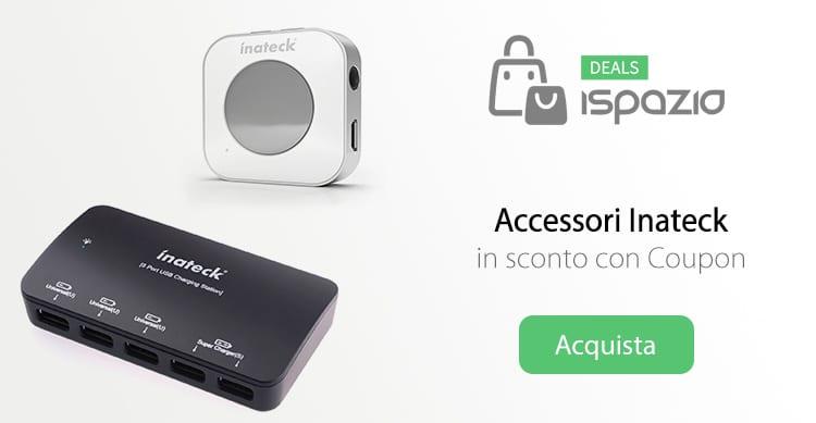 Caricatore da muro a 5 USB e Ricevitore Bluetooth in sconto con Coupon su Deals iSpazio