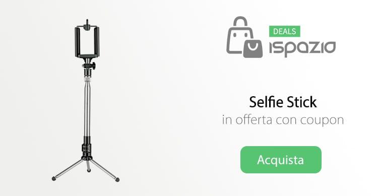 Selfie Stick (asta per selfie) in offerta con coupon iSpazio