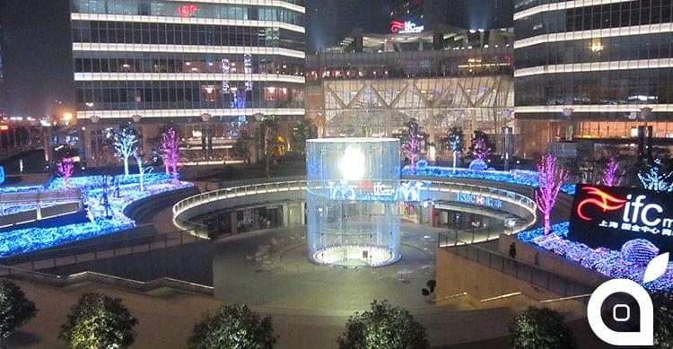 Apple brevetta il cilindro in vetro dello Store di ShangHai