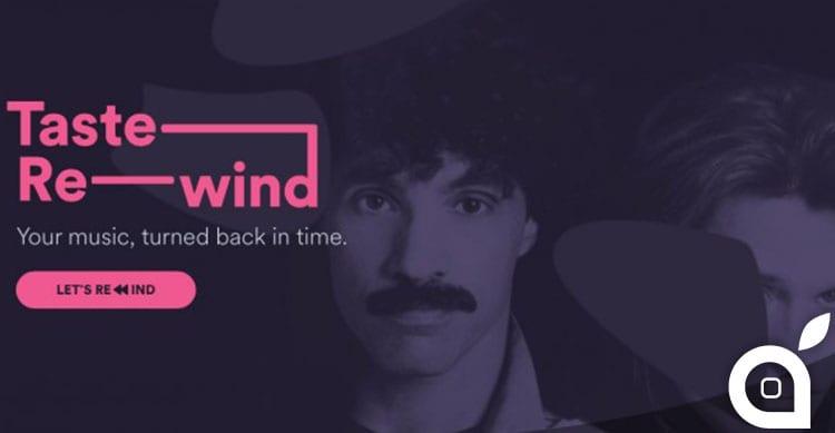 Spotify lancia Taste Rewind: playlist della musica del passato basate sulle nostre preferenze musicali