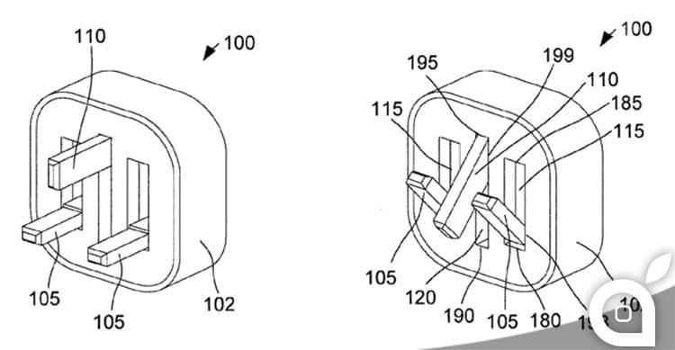 Apple deposita il brevetto dell'alimentatore USB con spina retrattile