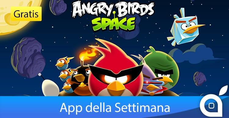 """Apple rende gratuito """"Angry Birds Space"""" per 7 giorni con l'App della Settimana. Approfittatene!"""