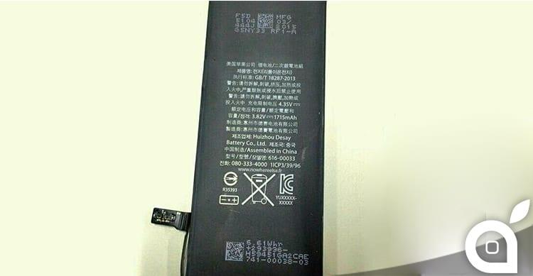 Trapelano le foto della probabile batteria di iPhone 6c | Rumor