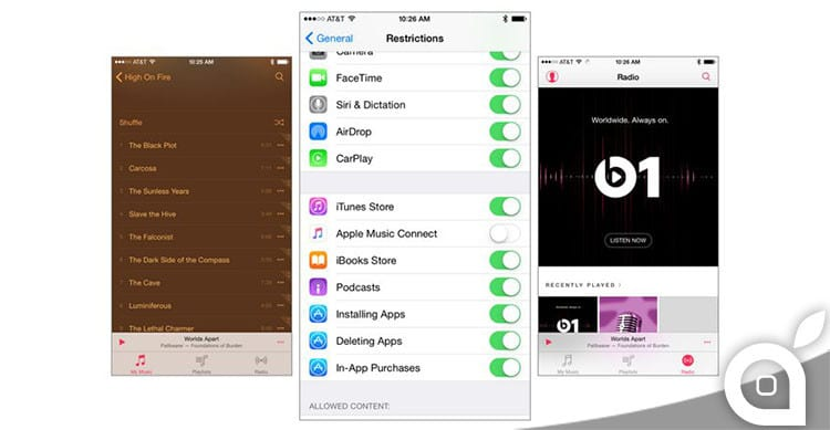 come disabilitare connect su apple music
