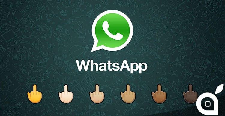 Novità WhatsApp: su Android arriva l'icona del dito medio