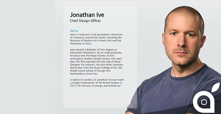Apple ufficializza il nuovo ruolo di Jony Ive all'interno dell'azienda