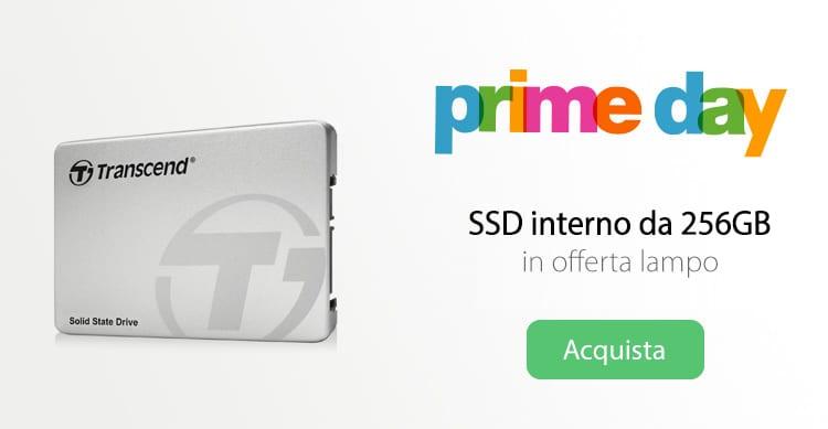 SSD da 256GB in offerta lampo su Amazon | Prime Day
