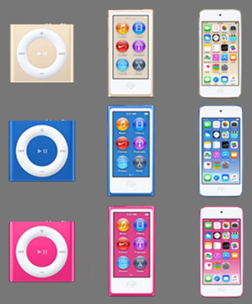 ipod nuovi colori