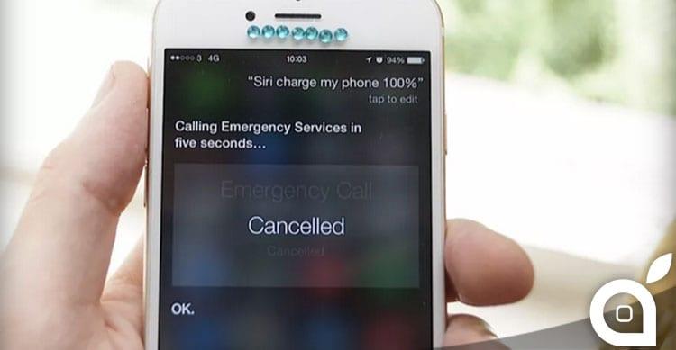 Attenzione a chiedere a Siri di ricaricarvi l'iPhone…potrebbe chiamare la polizia
