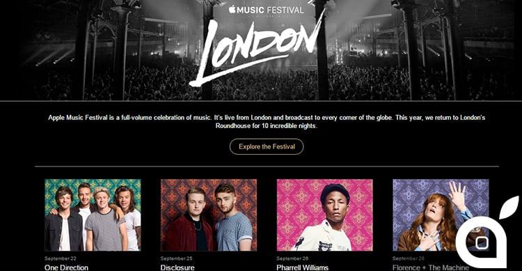 Apple annuncia l'Apple Music Festival 2015