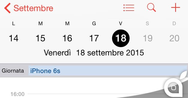 Save the date: iPhone 6s disponibile all'acquisto dal 18 Settembre | Rumor