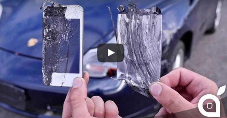 Esperimenti inutili: 4 iPhone usati come pastiglie dei freni di una Porche 911 [Video]