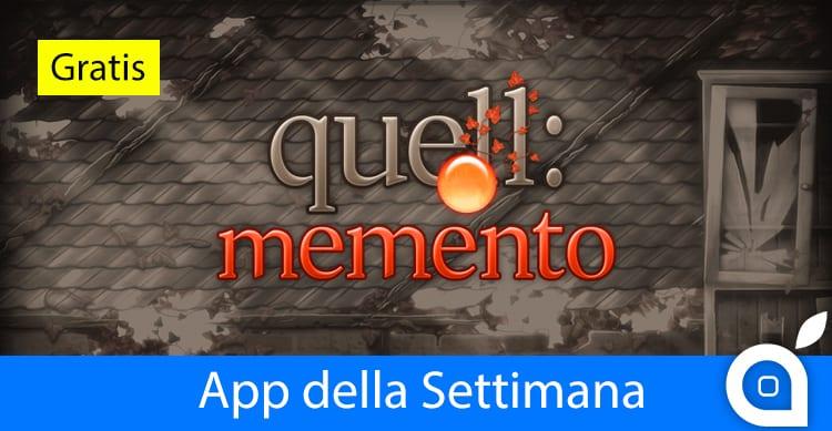 """Apple regala """"Quell Memento+"""" con l'App della Settimana. Approfittatene!"""