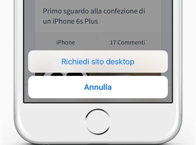 iOS 9 Tips: Come visualizzare velocemente un sito web in versione Desktop