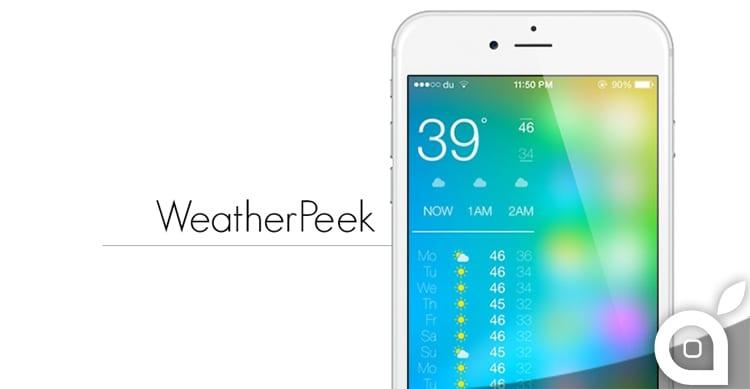 Non farti sorprendere dal cattivo tempo, affidati a WeatherPeek | Cydia
