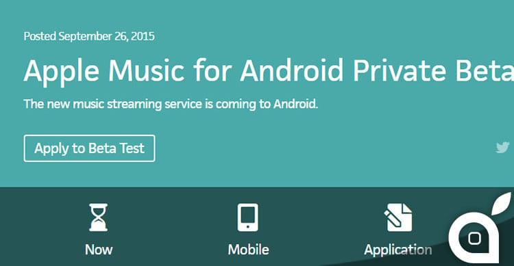 Apple Music: in arrivo la beta per Android