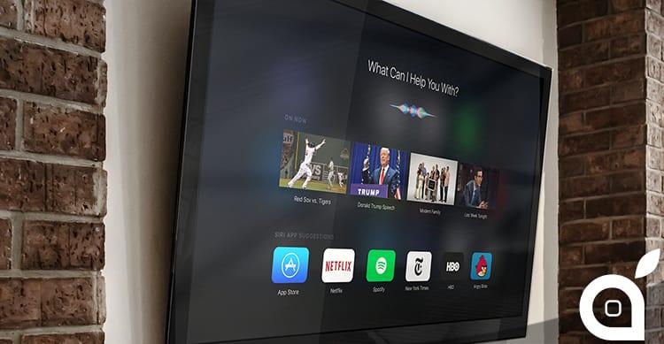 Apple TV basata su Siri ed iOS 9: Ecco come viene magistralmente immaginata in un Concept