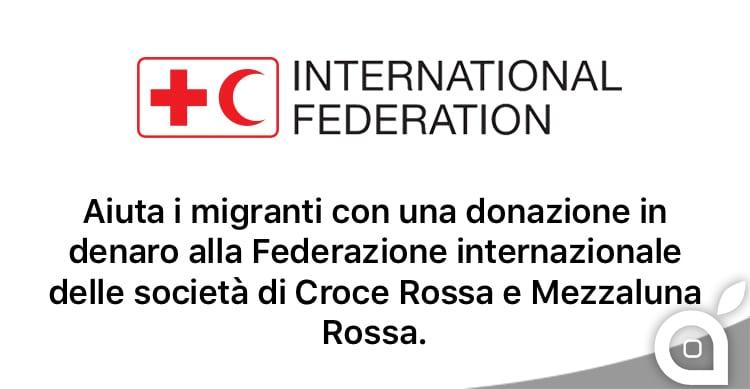 Emergenza migranti: Apple lancia una raccolta fondi per la Croce Rossa e Mezzaluna Rossa