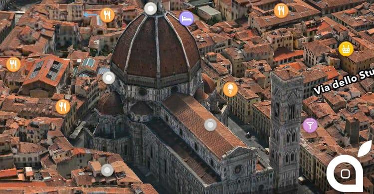 Flyover, le mappe 3D di Apple arrivano in 5 nuove città italiane