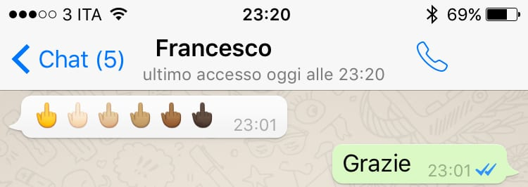 fuck emoji whatsapp ios iphone