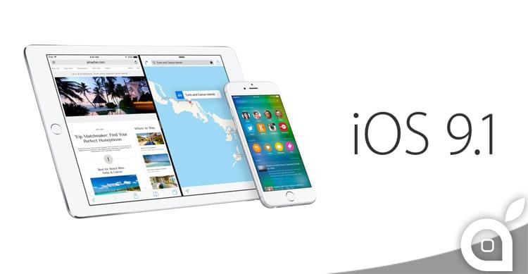Apple rilascia iOS 9.1 beta 1 in versione pubblica per tutti gli iscritti al programma di Beta Testing