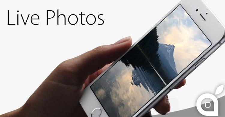 Dropbox, Google Drive e Flickr non supportano il salvataggio di Live Photo