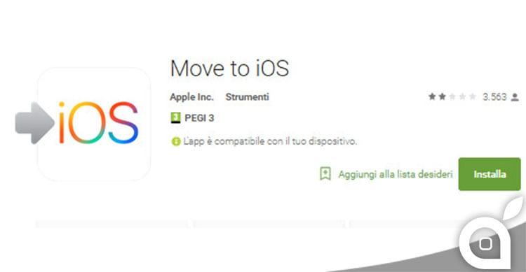 """I fan Android si scagliano contro l'app di migrazione """"Move to iOS"""""""