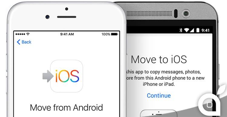 """L'applicazione di Apple """"Move to iOS"""" è ora disponibile nel Google Play Store"""